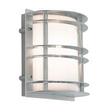 Stockholm Flush Wall Lantern - Galvanised / Opal Lens
