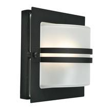 Bern Outdoor Lantern - Black / Frosted Lens