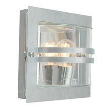 Bern Outdoor Lantern - Galvanised / Clear Lens