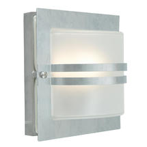 Bern Outdoor Lantern - Galvanised / Frosted Lens