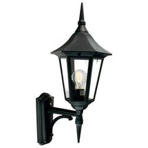 Valencia Up Wall Lantern - Black
