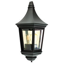 Valencia Flush Wall Lantern - Black