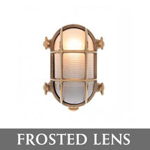 Small Oval Bulkhead - Brass/Frosted Lens