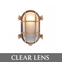 Small Oval Bulkhead - Brass/Clear Lens