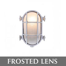 Small Oval Bulkhead - Chrome/Frosted Lens