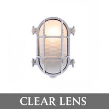 Small Oval Bulkhead - Chrome/Clear Lens