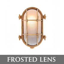 Medium Oval Bulkhead - Brass/Frosted Lens