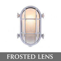Medium Oval Bulkhead - Chrome/Frosted Lens
