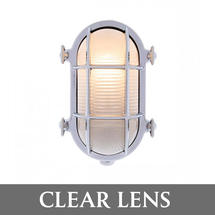 Medium Oval Bulkhead - Chrome/Clear Lens