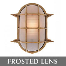 Extra Large Oval Bulkhead - Brass/Frosted Lens