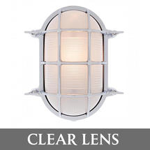 Extra Large Oval Bulkhead - Chrome/Clear Lens
