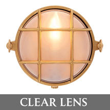 Small Round Bulkhead - Brass/Clear Lens