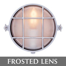 Small Round Bulkhead - Chrome/Frosted Lens