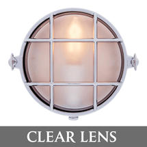 Small Round Bulkhead - Chrome/Clear Lens