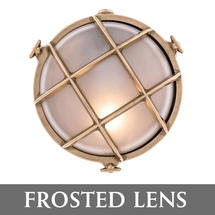 Medium Round Bulkhead - Brass/Frosted Lens