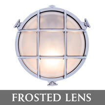 Medium Round Bulkhead - Chrome/Frosted Lens