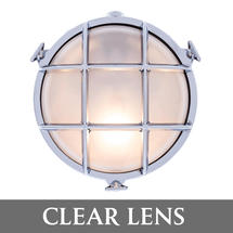 Medium Round Bulkhead - Chrome/Clear Lens