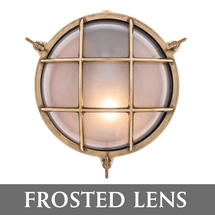 Large Round Bulkhead - Brass/Frosted Lens