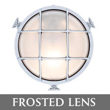 Large Round Bulkhead - Chrome/Frosted Lens