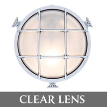Large Round Bulkhead - Chrome/Clear Lens
