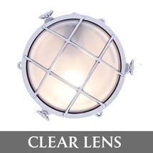 Large Bulkhead - Chrome with External Fixing Legs/Clear Lens