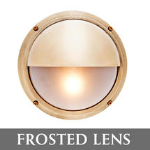 Bulkhead with Shade - Brass/Frosted Lens