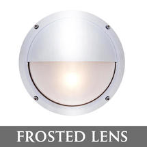 Bulkhead with Shade - Chrome/Frosted Lens