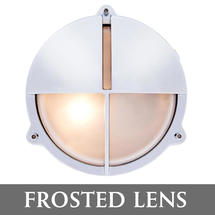 Medium Bulkhead with Split Shade - Chrome/Frosted Lens