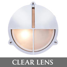 Medium Bulkhead with Split Shade - Chrome/Clear Lens