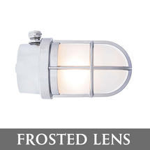 Grille Lamp - Chrome/Frosted Lens