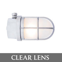 Grille Lamp - Chrome/Clear Lens