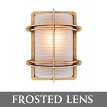 Rectangular Bulkhead - Brass/Frosted Lens