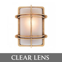 Rectangular Bulkhead - Brass/Clear Lens