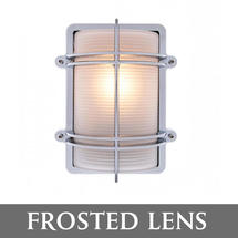 Rectangular Bulkhead - Chrome/Frosted Lens