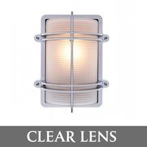 Rectangular Bulkhead - Chrome/Clear Lens
