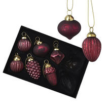 Set of Mulberry Mini Glass Baubles