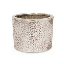 Hammered Effect Silver Indoor Planter