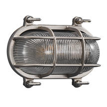 Helford Oval Bulk Head Outdoor Light - Nickel