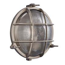 Polperro Round Bulk Head Outdoor Light- Nickel