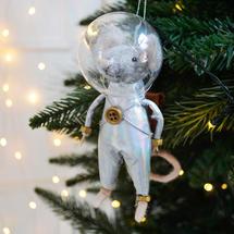 Tim Squeak Silver Space Suit Tree Decoration
