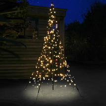 3D 2m Christmas Tree with Static Warm White 300 LEDs