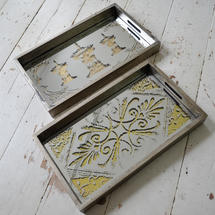 Mirrored Serving Tray - Pagoda