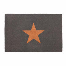 Single Star Charcoal Doormat