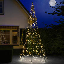 3D 4m Christmas Tree with Warm White Twinkling 640 LEDs