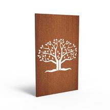 Corten Panel - Abstract Oak