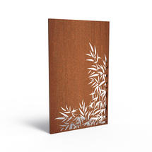 Corten Panel - Bamboo Leaves