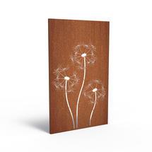 Corten Panel - Dandelions
