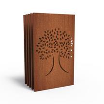 Corten Panel - Oak Tree - Set of 5