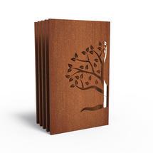 Corten Panel - Half Tree Right - Set of 5