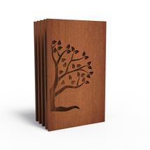 Corten Panel - Half Tree Left - Set of 5